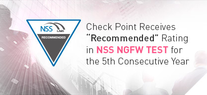 Check Point receives Recommended rating for Next Generation Firewall