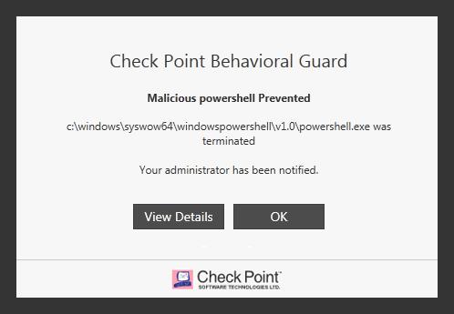 SandBlast Agent Behavioral Guard